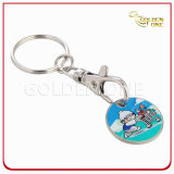 Personalized Iron Color Filling Trolley Coin Holder Keychain
