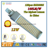 128PCS Epistar SMD2835 160lm/W 12W G24 LED Pl Lamp with Ce&RoHS Approved