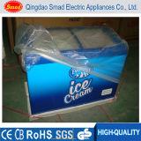 Glass Top Loading Chest Freezer Commercial Supermarket Ice Cream Display Freezer