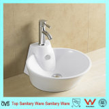 Chaozhou Good Price Round Shape Art Basin with Faucet Hole