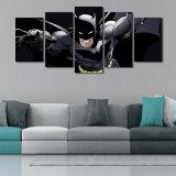 2017 Popular 5 Panel HD Printed Super Hero Batman Pictures Canvas Prints