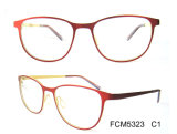 Slim Style and White Lenses Color Metal Eyewear