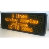 Indoor LED Display (pH 10 Amber Window LED Sign)
