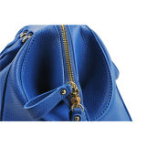 Blue Leather Lady Handbag (M10018)