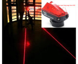Cycling Bike Bicycle 2 Laser Beam + 5 LED Rear Tail Light 3 Modes Lamp