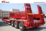 Tyre Exposed Double Drop Trailer for Cargo Transporting