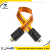 F Connector Flat Cable for Extend Coaxial Cable Through Window & Door Without Drilling