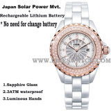 2014 Latest Japan Solar Power Movement Ceramic Watch (68052)