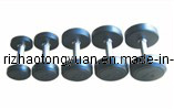 Round Rubber Coated Dumbbell with Galvanized Handle