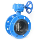 Butterfly Valve Double Eccentric Flanged Worm Gear Operated