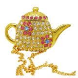 Popular & Hotsell Tea Pot Jewelry USB Creative Kettle Shaped Jewelled USB Flash Drive (ES556)