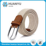 Unisex Fashion Gray Alloy Needle Woven Fabric Belt