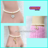 Fashion Wholesale Custom Cheap Alloy Charm Pearl Beads Beacelet