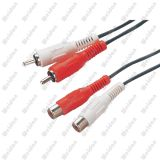6ft 2RCA Male/Female Extenstion Cable