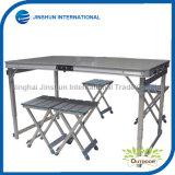 Aluminum Height Adjustable Fold Table+4 Stools
