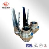 304L/316L Plastic/Stainless Steel Handle Muitl Position Weld End Butterfly Valves