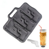Kitchenware Make Makes 6 Extra Large Cubes Gun Weapon Silicone Ice Cube Tray