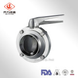 Stainless Steel Handle Sanitary Butterfly Valve (304/316L TC Clamp/Weld/Thread)