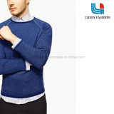 Fashion Blue and Grey Men′s Knitted Jersey