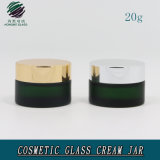 20ml Green Frosted Cosmetic Glass Cream Jar