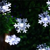 Solar Powered Snowflake Christmas Decorative String Light for Party, Lawn and Garden