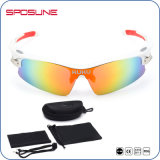 UV400 White Frame Colorful Lens Unbreakable Sports Polarized Sunglasses