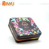 Square Perfume Box with Retro Pattern for Brand Promotion