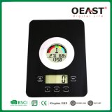 3kg Digital Kitchen Scale with Time, Temperature, Humidity Display Touch Button Ot6667th