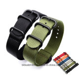 Stainless Steel Buckle Inchangeable Nato Strap Nylon Watch Band