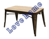 Modern Industrial Tolix Restaurant Knock Down Wooden Coffee Table