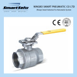 Hand Lever Operated Flanged End High Mounting Pad Ball Valve