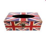Flag Canvas Square Wooden Tissue Box