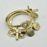 VAGULA Gold Plated Fashion Charms Bracelet Sets E10778