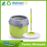 PP & Stainless Steel Retractable Handle Single Spin Mop with Round Bucket