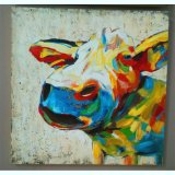 Favorites Compare High Quality Modern Abstract Bull on Canvas Oil Painting for Decoration (LH-019000)