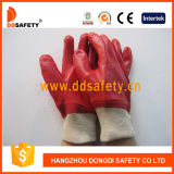 Ddsafety 2017 Red PVC Safety Gloves Pasted Ce