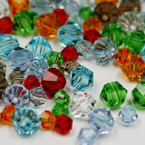 Charm Glass Beads Loose Spacer Beads 4mm Bicone Crystal Beads for DIY Jewelry