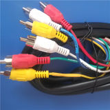 21 Pins Scart to PVC Injection 6RCA Cable (ca-016)