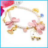 Pink Sweet Bow Tie Charm Metal Bracelet #31449
