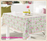 PVC Three Layer Printed Tablecloth with Nonwoven Backing Outdoor Use