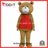 Red Apron Teddy Bear Animal Mascot Costumes for Promotional