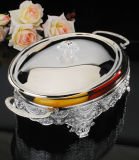 Silver Plated Casserole with Glass (AG33027DL)