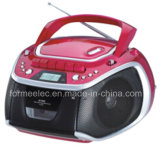 Portable CD MP Boombox with Cassette Player