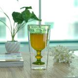 Fancy Stem Double Wall Drinking Glass