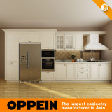 Oppein 7 Days Delivery White PVC Wood Kitchen Furniture (OP14-K001)