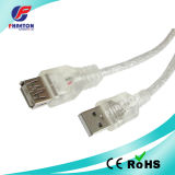 Transparent Female to Male USB 2.0 Cable