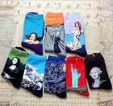 Novel Design Celebrity Avatar Patten Dress Sock