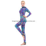 Women`S Long Lycra Rash Guard for Swimwear, Sportswear and Surfing Suit