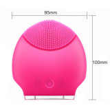 Ultrasonic Silicone Facial Cleansing Brush for Lady