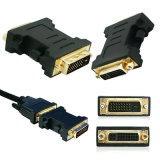 DVI Adapter for Monitors Convert The 24+1 Pin to 24+5 Pin DVI Plug Male to Female DVI Converter